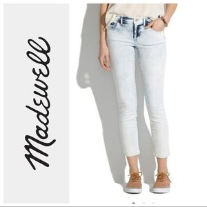 Madewell light storm mid-rise skinny crop jeans